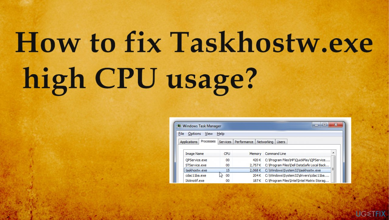 Taskhostw.exe issues result in high CPU usage