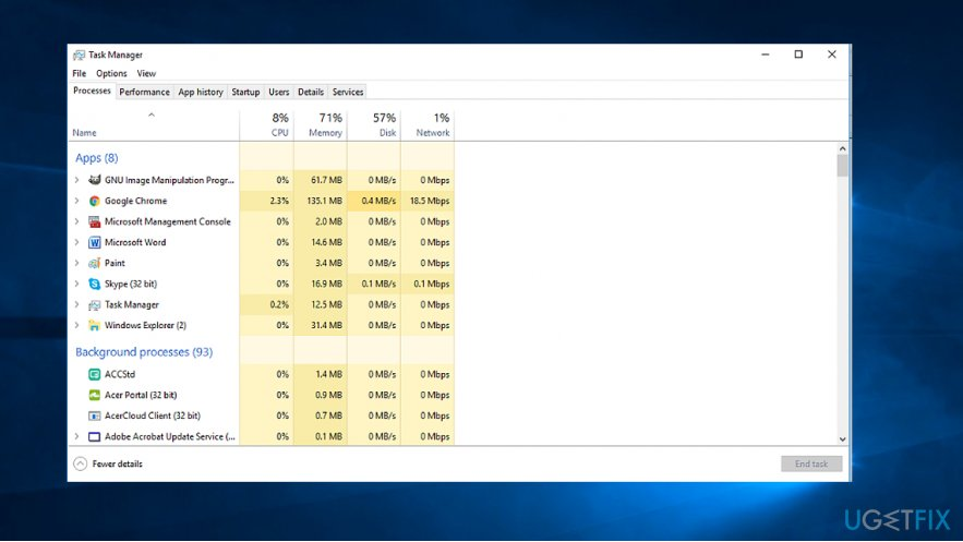 Check what app consumes the biggest amount of CPU