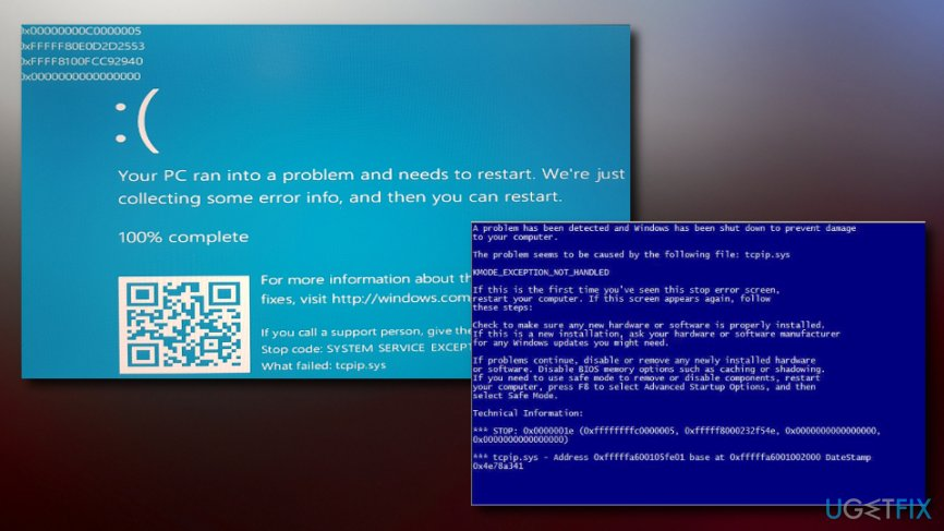 How to fix tcpip sys blue screen on Windows?