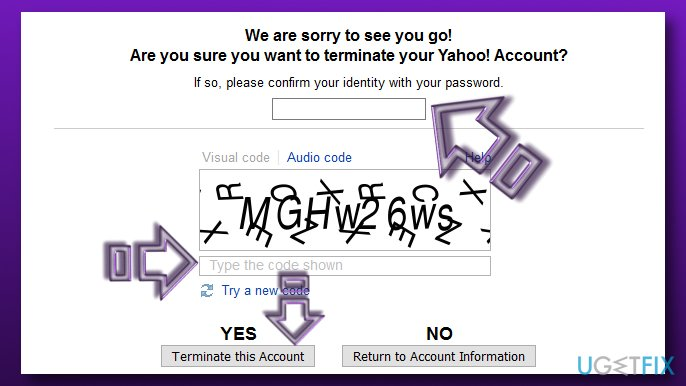 Terminate Yahoo Account