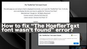 "How to Fix ""The HoeflerText font wasn't found"" Error?"