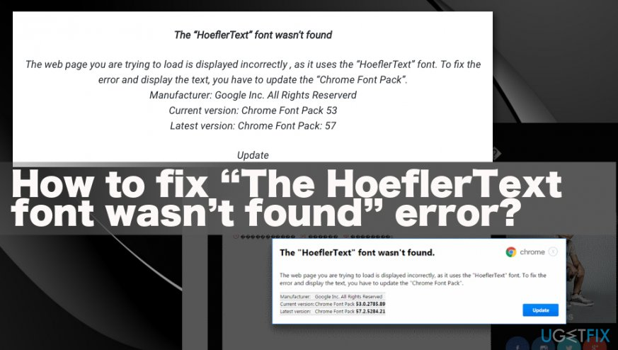 """The HoeflerText font wasn't found"" Error"