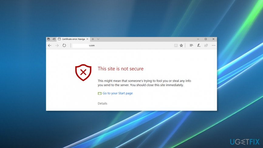 "How to Fix ""This site is not secure"" pop-up with an error"
