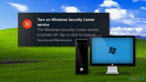 """How to Disable """"Turn on windows security center service"""" Pop-Up on Windows 10?"""