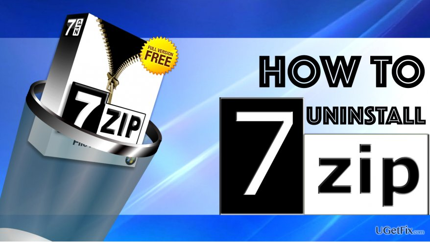 Uninstall 7-Zip from Windows