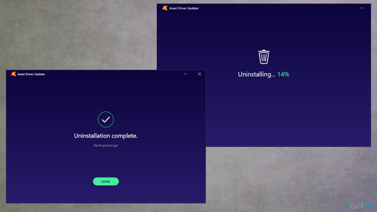 Avast Driver Updater uninstallation