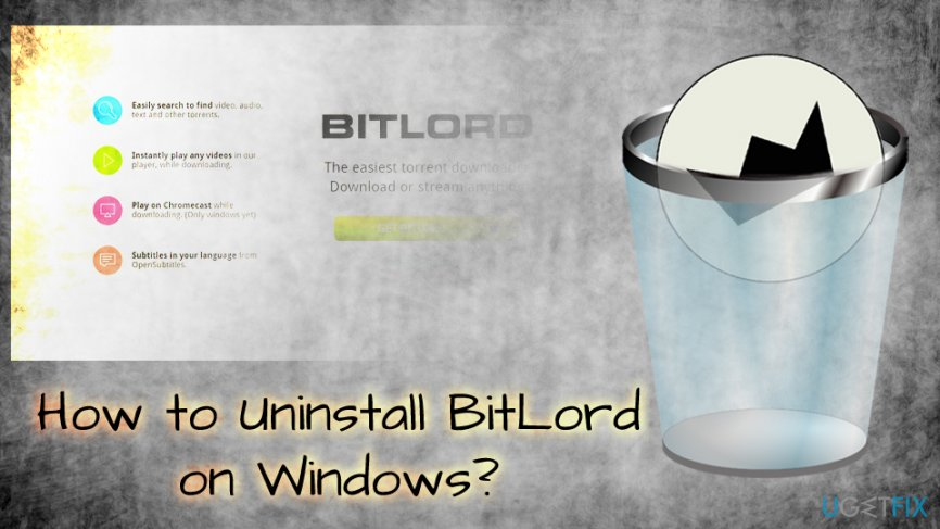 Uninstall BitLord on Windows