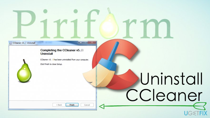 Uninstall CCleaner software completely