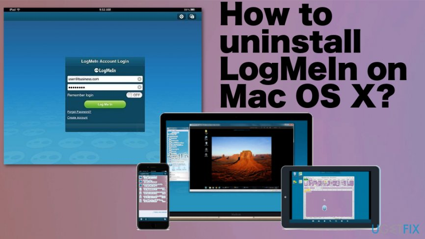 Uninstall LogMeIn on Mac OS X