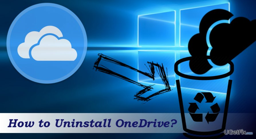 an illustration of OneDrive removal