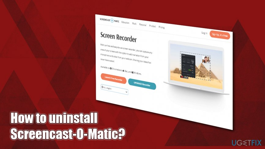 How to uninstall Screencast-O-Matic