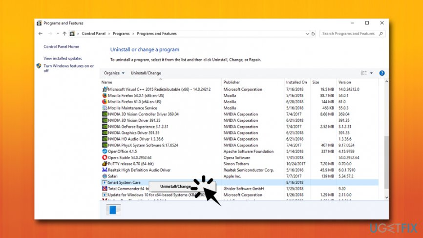 Uninstall Smart System Care from Windows