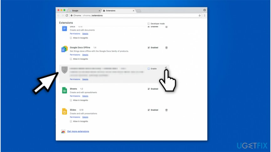 Learn how to uninstall browser extensions on Google Chrome