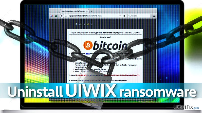Uninstall UIWIX ransomware virus