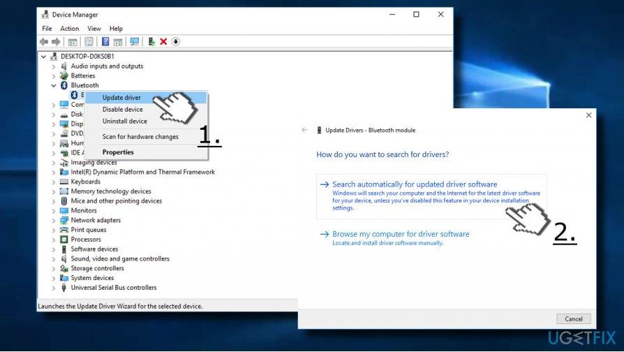 Update Bluetooth drivers automatically