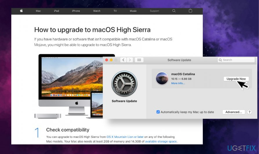 Upgrade your Mac to 10.13 version