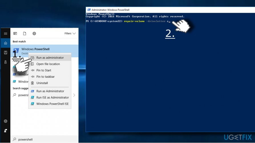 Use elevated Windows PowerShell