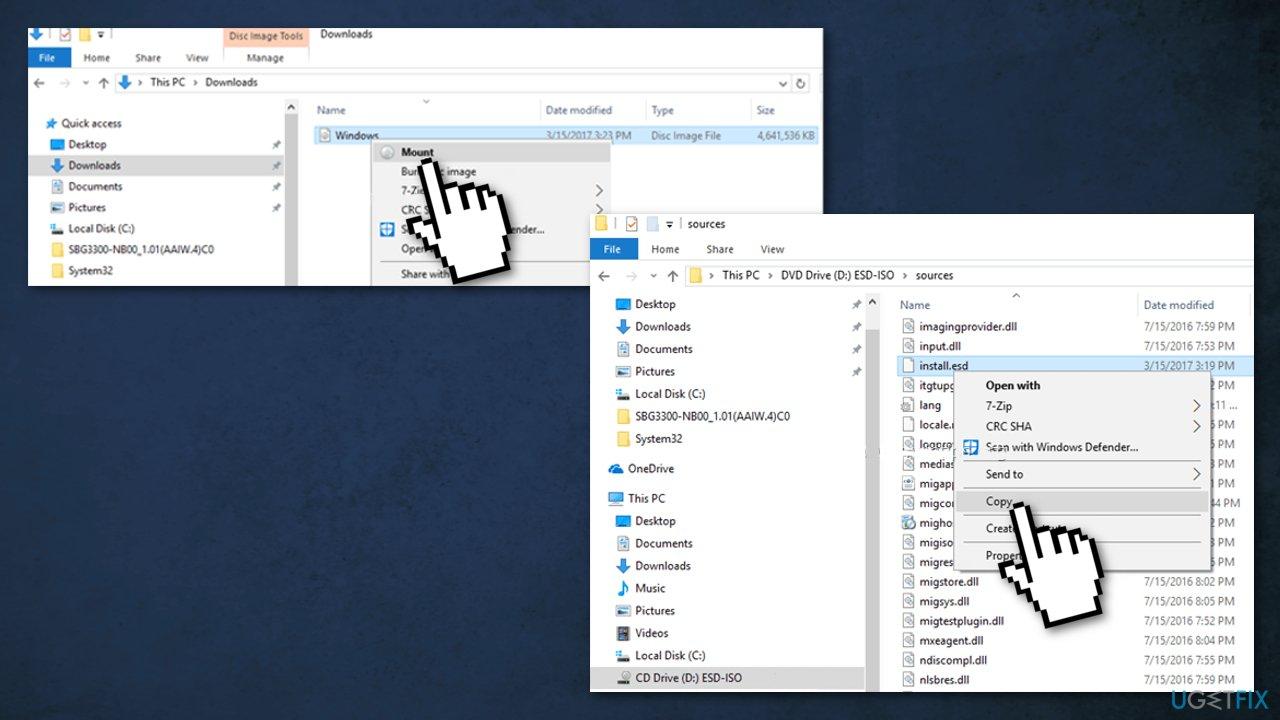 Use Windows installation media in ISO format2