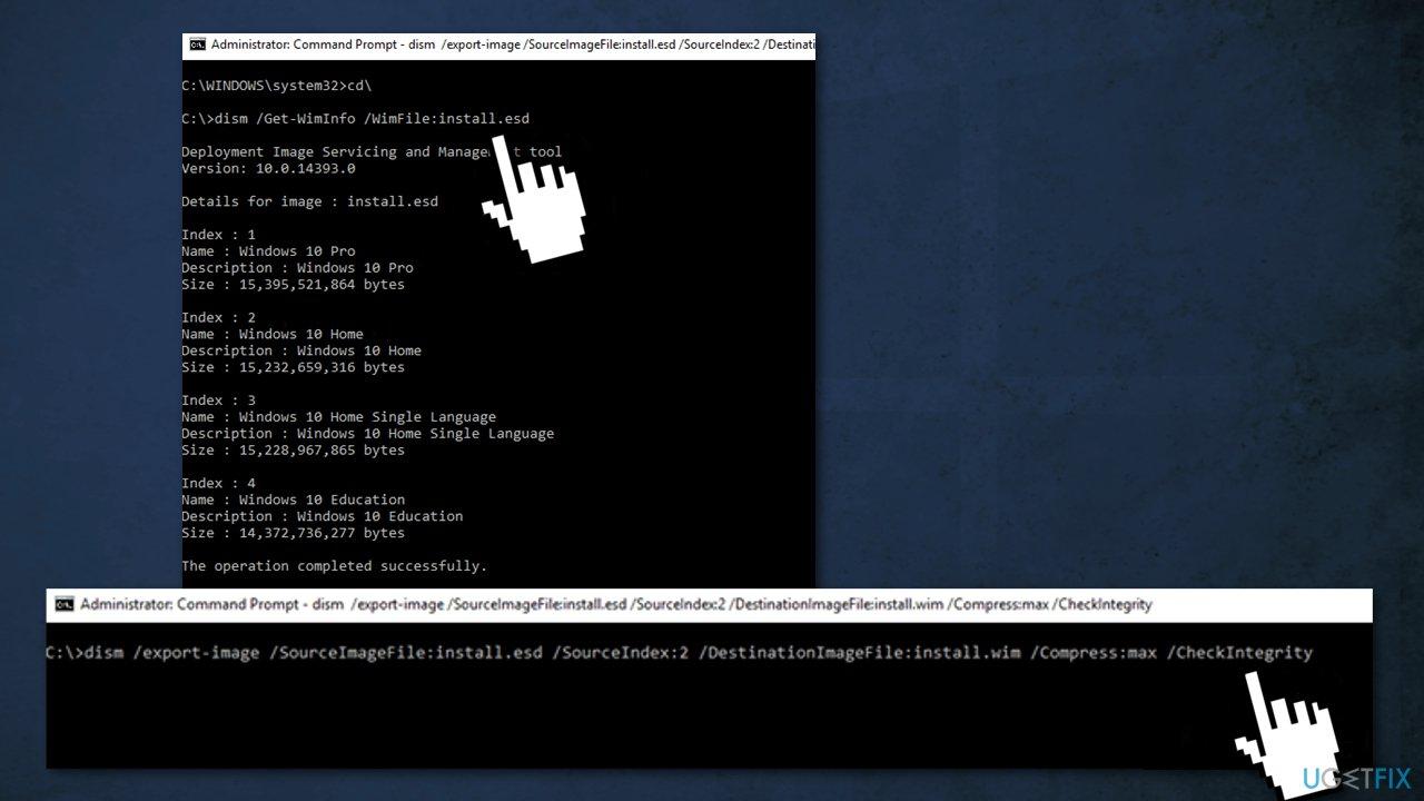 Use Windows installation media in ISO format3