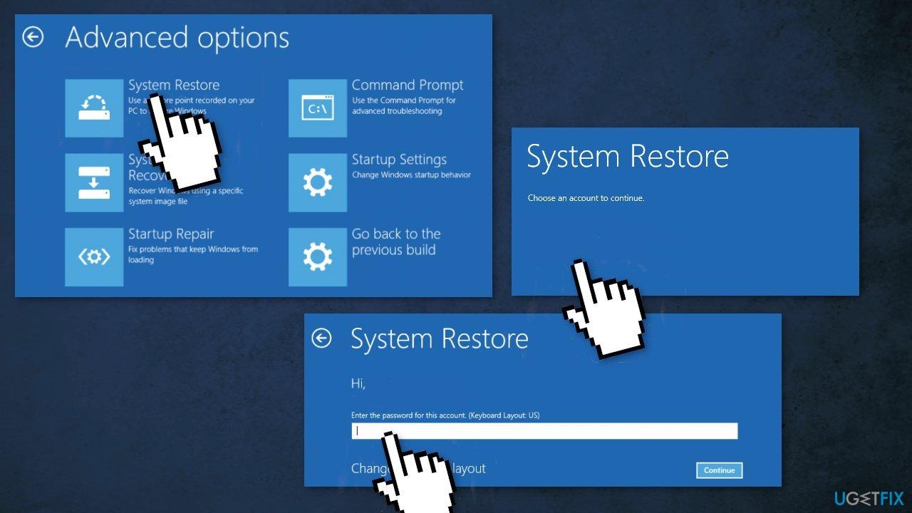 Use Windows Restore