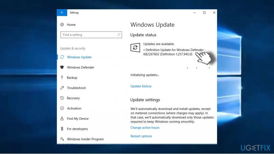 Use Windows Update service