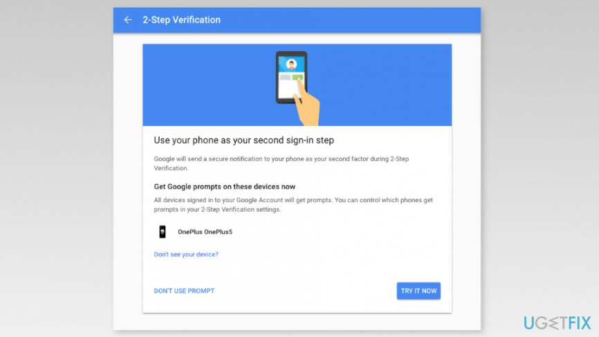 Use your phone as second sign-in step
