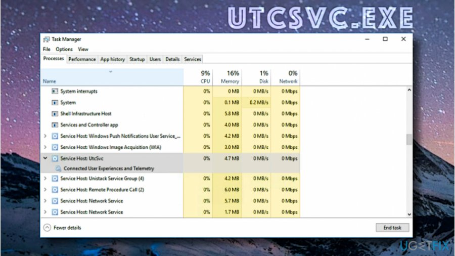Uninstall UTCSVC.EXE