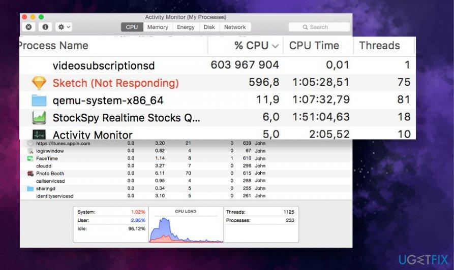 Videosubscriptionsd high CPU