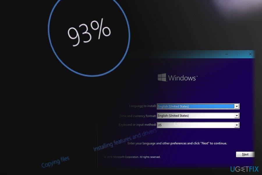 Wait for Windows installation