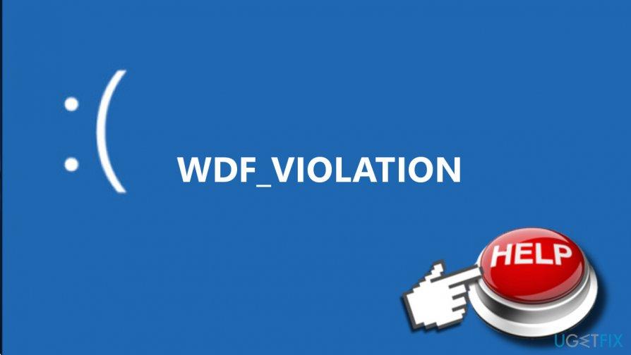 Resultado de imagen para Error WDF_VIOLATION en Windows 10
