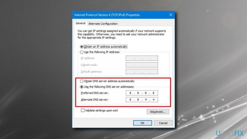 Check DNS settings