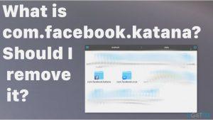 What is com.facebook.katana? Should I remove it?