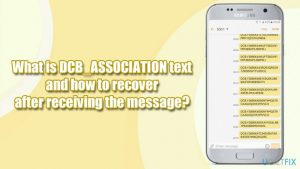 What is DCB_ASSOCIATION text and how to recover after receiving the message?