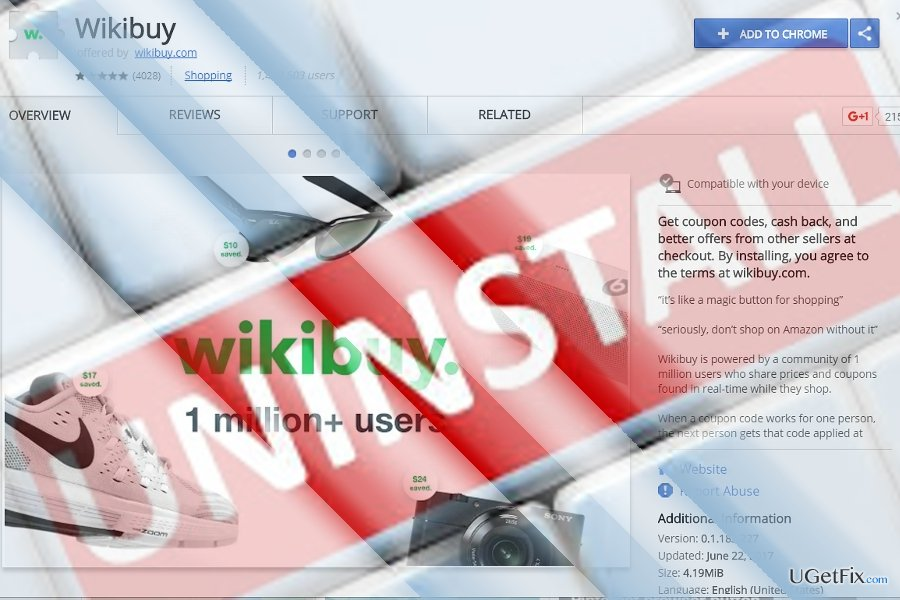 Uninstall WikiBuy easily