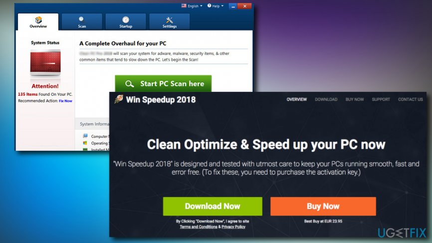 Win Speedup 2018 uninstall