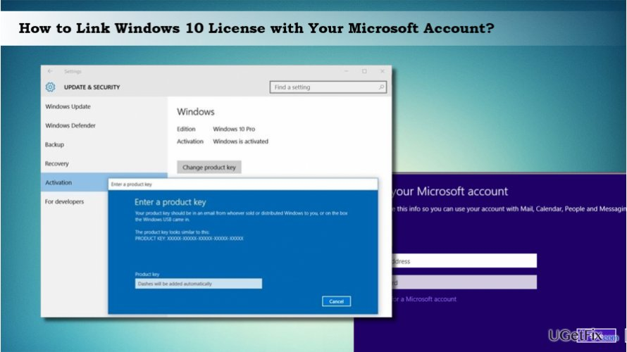 Windows 10 activation: linking license with Microsoft account