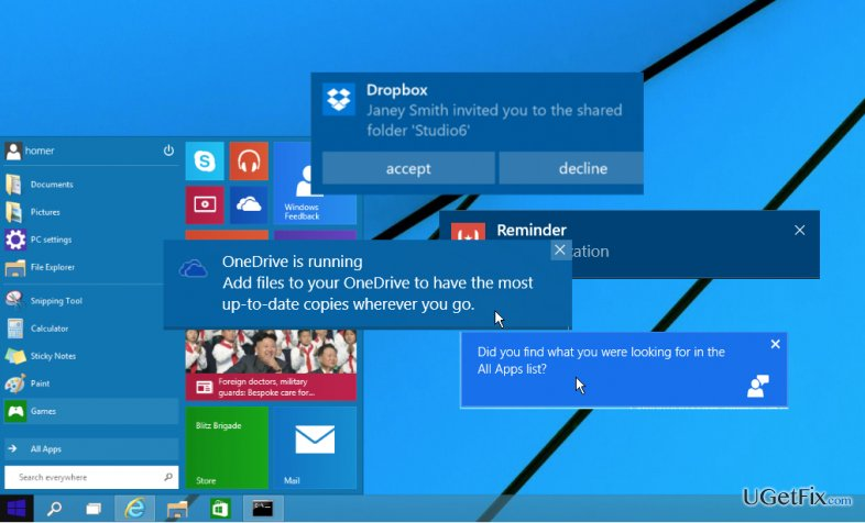 How to manage Windows 10 notifications?