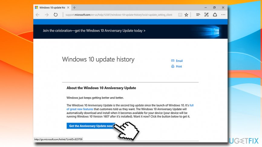download windows 10 feature update manually