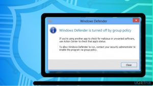 How to Fix Windows Defender Automatically Disabled by Group Policy?