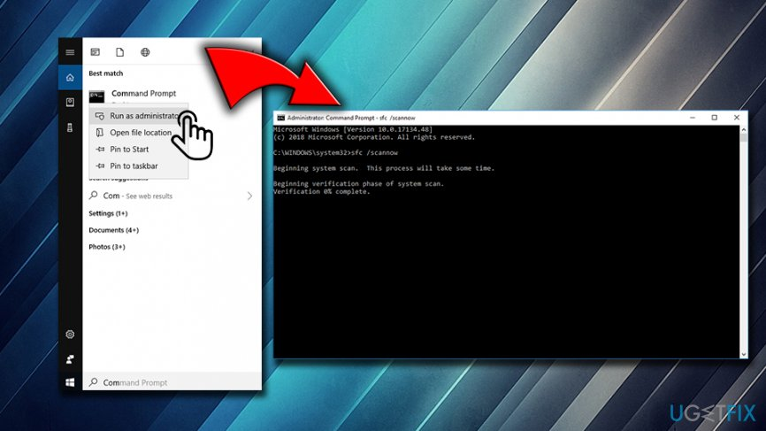 Fix 0x800706BE error via command prompt