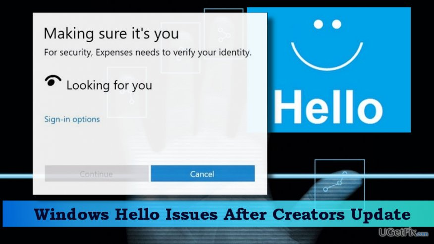 Illustrating Windows Hello feature