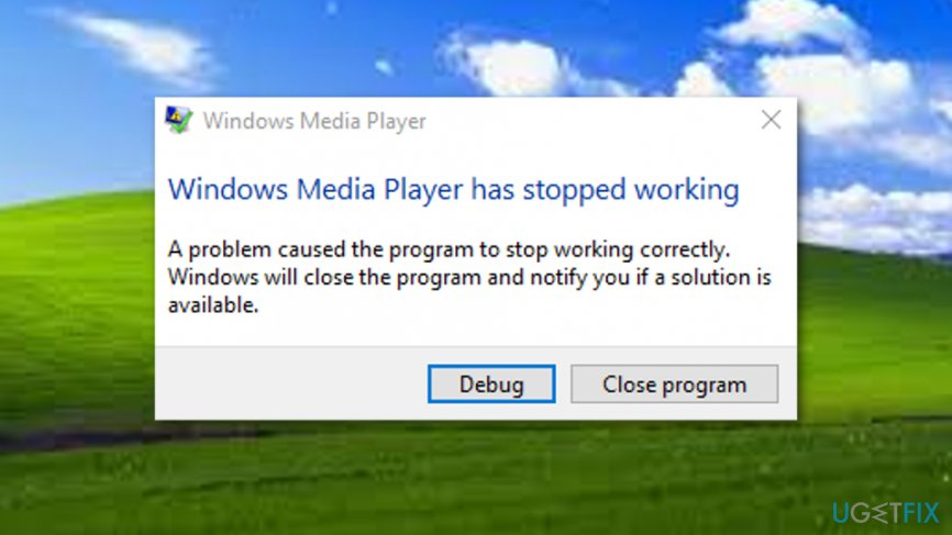 Windows Media Player Error 0xc0000005 (file CompPkgSup.DLL) error code