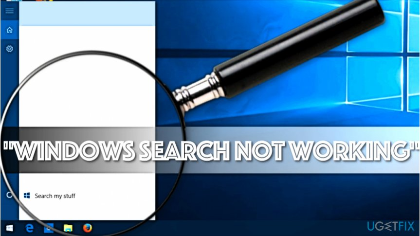 how to fix windows search not working on windows 10