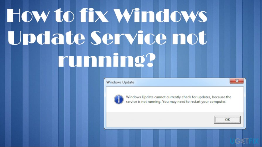 Windows Update Service not running fix
