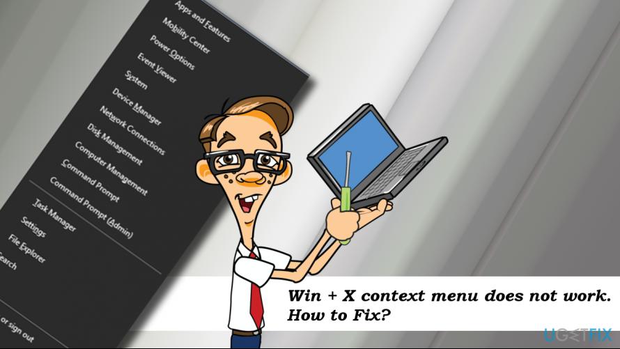 WinX menu error example