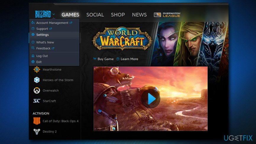 How to fix World of Warcraft was unable to start up 3D