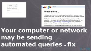 Your computer or network may be sending automated queries – how to fix?