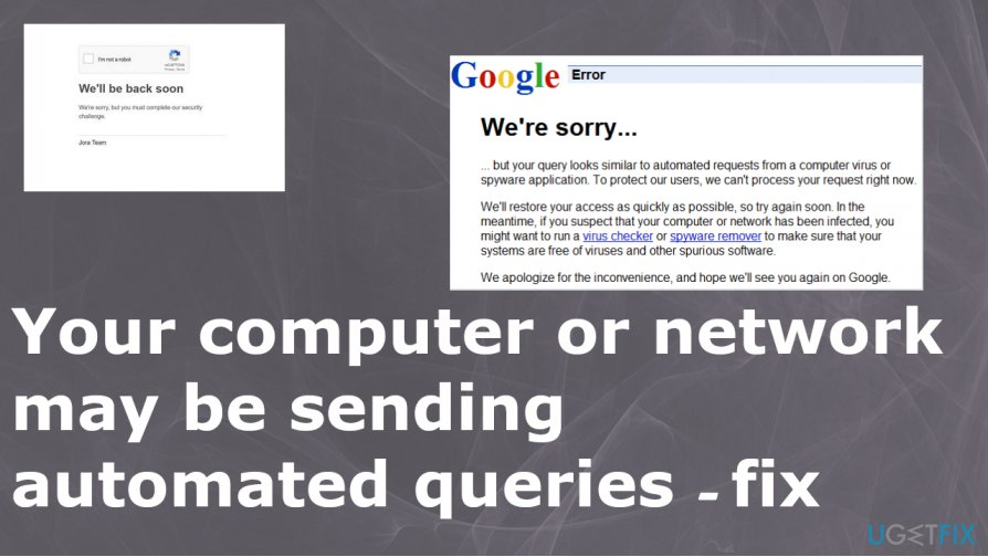 Your computer or network may be sending automated queries fix