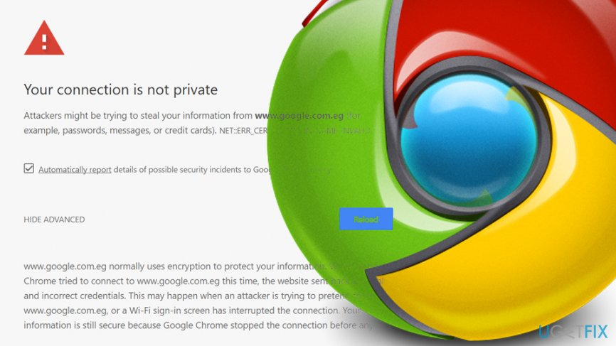 google chrome connection is not private