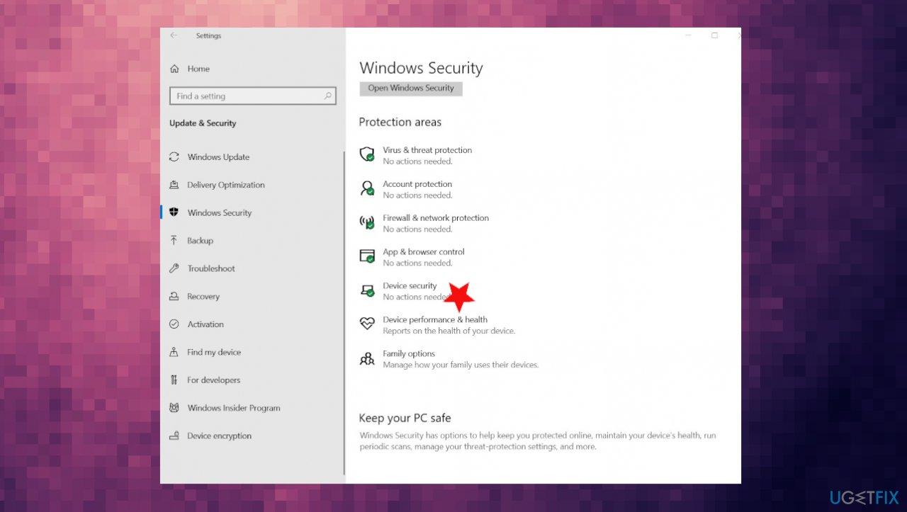 Device security